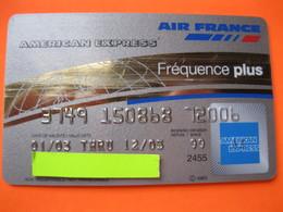 """Carte Frequence Air France """"point Miles"""" - Cartes De Crédit (expiration Min. 10 Ans)"""