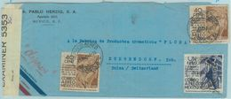 84298 - MEXICO - POSTAL HISTORY - CENSORED COVER  To SWITZERLAND  Sent By CLIPPER 1942 - Mexiko
