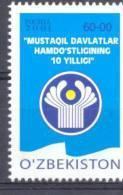 2001. Uzbekistan, 10y Of CIS, 1v, Mint/** - Usbekistan