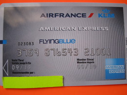 """Carte Frequence Air France """"point Miles"""" - Credit Cards (Exp. Date Min. 10 Years)"""