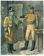 ~1800 Uniformen Der Hannoverschen Postillione Nach Einem Bild Des Malers Gustav Müller Aus Dresden 18,5 X 13,5 Cm - Habits & Linge D'époque
