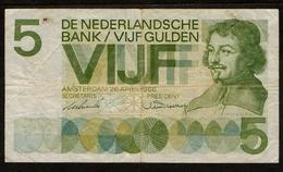 Nederland / De Nederlandse Bank / Vijf Gulden / 5 Gulden / Amsterdam 26 April 1966 / 2 JF 034030 / 2 Scans - [2] 1815-… : Kingdom Of The Netherlands