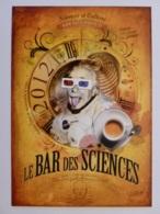 EINSTEIN - Science / Savant - Einstein Tire La Langue - Carte Publicitaire Bar Des Sciences - Premi Nobel