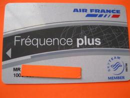 """Carte Frequence Air France """"point Miles"""" Ou Luftansa - Cartes De Crédit (expiration Min. 10 Ans)"""
