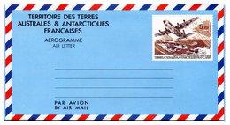 RC 17617 TAAF COTE 10€  N° 1 INAUGURATION DE LA PISTE DE TERRE ADÉLIE AÉROGRAMME NEUF ** MNH TB - Enteros Postales