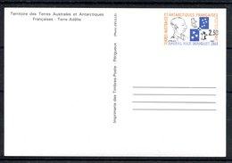 RC 17618 TAAF COTE 4,50€  N° 1-CP HOMMAGE A L'AMIRAL MAX DOUGUET ENTIER NEUF ** MNH TB - Enteros Postales
