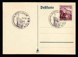 DR Postkarte POTSDAM - 24.1.39 - Mi.681 - SoSt. Bannfahnenweihe Der HJ - Siehe Scan - Storia Postale