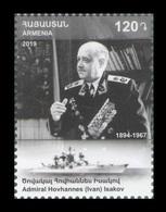 Armenia 2019 Mih. 1136 Admiral Of The Fleet Of The Soviet Union Ivan Isakov. Ship MNH ** - Armenien