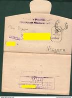 POW Prigionieri Di Guerra Italiani In India Prisonniers De Guerre From BOMBAY Camp To Vicenza 1942 Prisoners Of War - Documenti