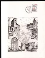 1981, FDC, Imprimerie, Gravure Huguette Sainson, Obliteration De Loudun - FDC