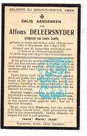 DP Postbode - Alfons Deleersnyder ° Aalter 1858 † Ruiselede 1922 X Leonie Carette - Images Religieuses