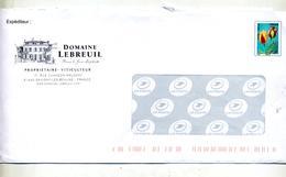 Pap Pre-obliteré Tulipe Entete Domaine Lebreuil - Entiers Postaux