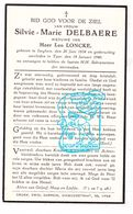 DP Silvie M. Delbaere ° Izegem 1854 † Ieper 1940 X Leo Loncke - Images Religieuses