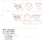 2 EMA FRANCE TRACTEUR TRACTOR AGRICULTURE LANDWIRTSCHAFT LE MANS CITE DU TRACTEUR RENAULT 1984 1976 - Agricultura