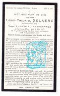 DP Louis Th. DeLaere ° Ieper 1871 † 1932 X Eug. Grymonprez - Images Religieuses