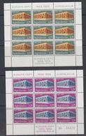 Europa Cept 1969 Yugoslavia 2v 2 Sheetlets TYPE II ** Mnh (47815) - Europa-CEPT