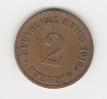 2 PFENNIGS 1916 CUIVRE KARLSRUHE - [ 2] 1871-1918 : German Empire