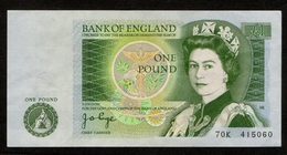 United Kingdom / Great Britain / Queen Elizabeth II / 1 Pound / Sir Isaac Newton / One Pound / 2 Scans / 70K 415060 - 1 Pound