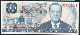 COSTA RICA P237b 10 COLONES 2.10.1985 UNC. - Costa Rica