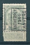 1596 Voorafstempeling Op Nr 81A - ANTWERPEN 1911 ANVERS -  Positie A (zie Opm) - Precancels