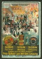 """Leipzig Sachsen ~1913 """" Fritz Schulz Jun AG Putzmittel Schuhcreme """" Vignette Cinderella Reklamemarke - Erinnophilie"""