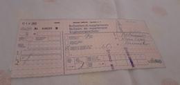 BIGLIETTO TRENO BOLLETTINO SUPPLEMENTO ESTERO 1989 - Treni