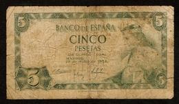 Spanje / Spain / Espana / Cinco Pesetas / 5 PESETAS / 1954 / G3087011 / 2 Scans - [ 3] 1936-1975: Franco