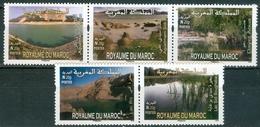 MOROCCO MAROC MAROKKO SÉRIE DE 5 TIMBRES LACS RARE I20 G 2015 - Morocco (1956-...)