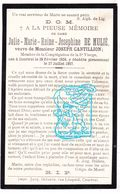DP Julie Marie R. De Mulié ° Kortrijk 1856 † 1907 X Senator Joseph Cantillion ° Diest 1857 - Images Religieuses