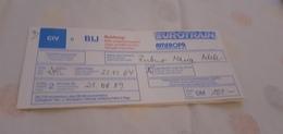 BIGLIETTO TRENO DA BAYREUTH HBF A NAPOLI 1989 - Treni