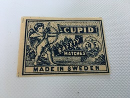 BV - 22 - CUPID - Safety Matches - Ange à L'arc - Advertising