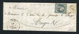 Rare Lettre De La Chapelle Sur Oudon Par Segré ( Maine & Loie 1854 ) Pour Angers - 1849-1876: Periodo Classico