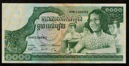 Cambodja / Cambodge / 1 000 Riels / Mille Riels / 530692 / Bradbury, Wilkinson / 2 Scans - Kambodscha