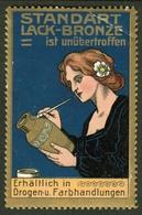 """Fürth Bayern ~1913 """" Carl Eckert Standard Lackbronze """" Vignette Cinderella Reklamemarke - Erinnophilie"""
