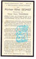 DP Alfred Desmidt ° Ieper 1859 † 1939 X Marie Timmerman - Images Religieuses