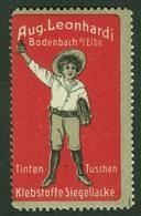 """Bodenbach Elbe B Tetschen = Podmokly Decin CSR ~1913 """" Aug.Leonhardi Tinten Pp """" Vignette Cinderella Reklamemarke - Erinnophilie"""