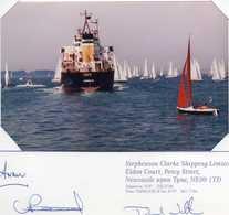Bateau De Commerce - Groupe STEPHENSON CLARKE -  Voeux - Carte Double - Barcos