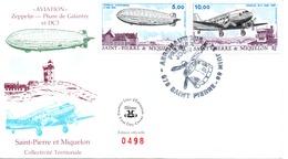 Saint Pierre Et Miquelon Poste Aérienne PA 66 67 1er Jour Zeppelin Douglas C 3 - FDC
