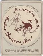Publicite   Avec Disque Tournant  Couleurs Bourgeois Aine  75012 Paris 18 Passage Du Genie Discolor - Advertising