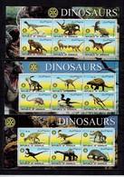 MTDR-BK3-007-2-008 MINT ¤ SOMALIA 2002 KOMPL. SET ¤ DINOSAURS - PREHISTORICS - PRÉHISTORIQUES - DINO'S - PREHISTORIE - Stamps