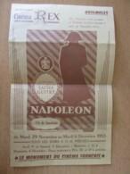 Dépliant Publicitaire / Programme Du Cinéma REX De Brignoles - Napoléon Par Sacha GUITRY - 1955 - Advertising