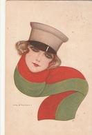 2 Cartoline- Postcard / Viaggiate - Sent /  Donnina / Illustratore Nanni - Vrouwen