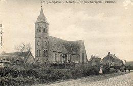 St.jan -bij-yper....  St Jean Lez Ypres    L Eglise  Ecrite 1914 - Belgien