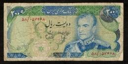 Iran / 200 Rials / Mohammad Reza Pahlavi / Bank Markazi Iran / 2 Scans - Iran