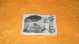 CARTE POSTALE ANCIENNE CIRCULEE DE 1904../ MARCHANDE DE MAREE..CACHETS + TIMBRE - Fishing