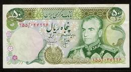 Iran / 50 Rials / Mohammad Reza Pahlavi / Bank Markazi Iran / 2 Scans - Irán