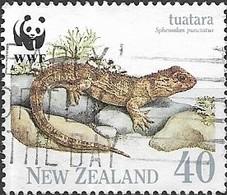 NEW ZEALAND 1991 Endangered Species. The Tuatara - 40c - Tuatara On Rocks FU - Nueva Zelanda