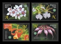 Belarus 2016 Mih. 1099/102 Flowers. Orchids MNH ** - Bielorrusia