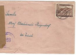 AUTRICHE 1947:  LSC Censurée Pour La Suisse - 1945-60 Lettres