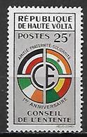 HAUTE VOLTA   -  1960  .  Y&T N° 91 * .   Conseil De L' Entente. - Alto Volta (1958-1984)